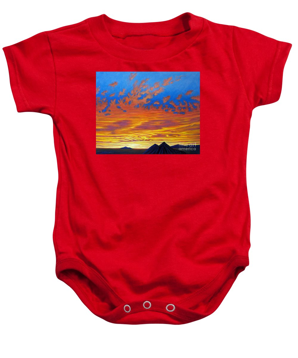Landscape Baby Onesie featuring the painting Looking To The Southwest by Brian Commerford
