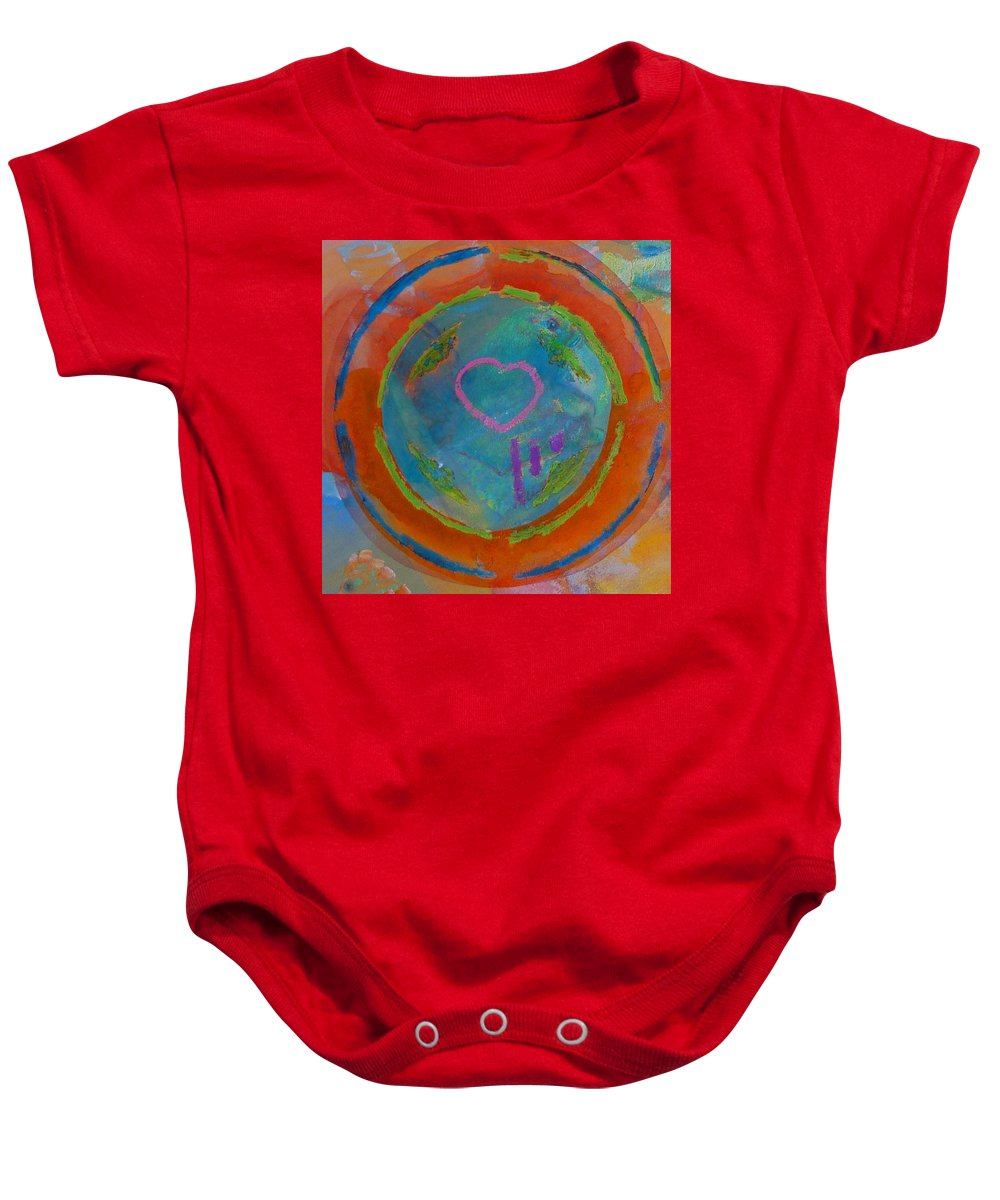 Logo Baby Onesie featuring the painting Love The Sea by Charles Stuart