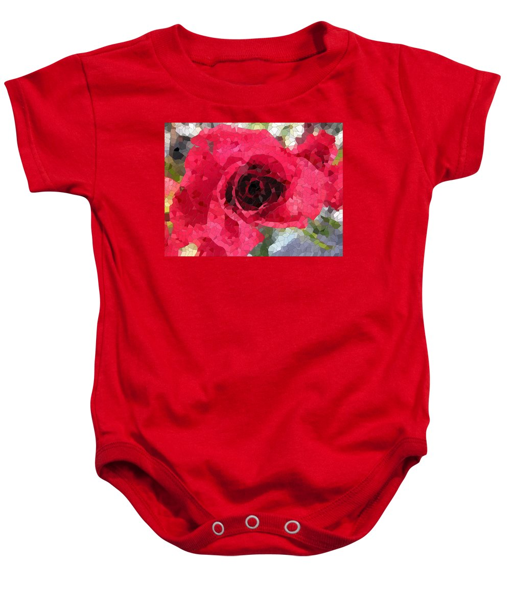 Rose Baby Onesie featuring the digital art Love You by Tim Allen