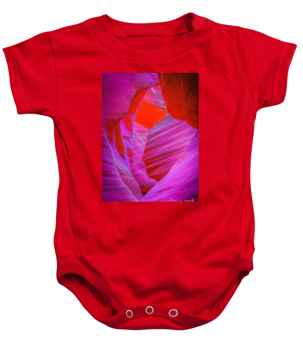 Antelope Canyon Baby Onesie featuring the photograph Lower Canyon 39 by Larry White