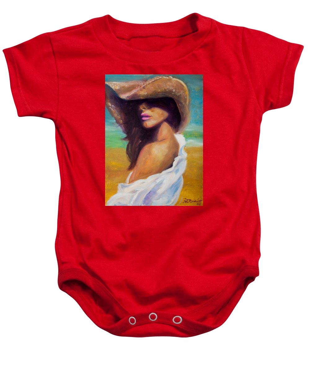 Girl Baby Onesie featuring the painting Made In The Shade by Jason Reinhardt