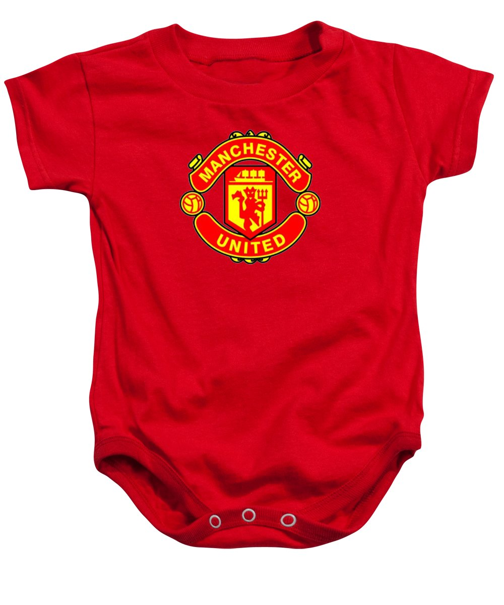 b37cd6fa1 Manchester United Baby Onesie featuring the digital art Manchester United  by Rawa Rontek