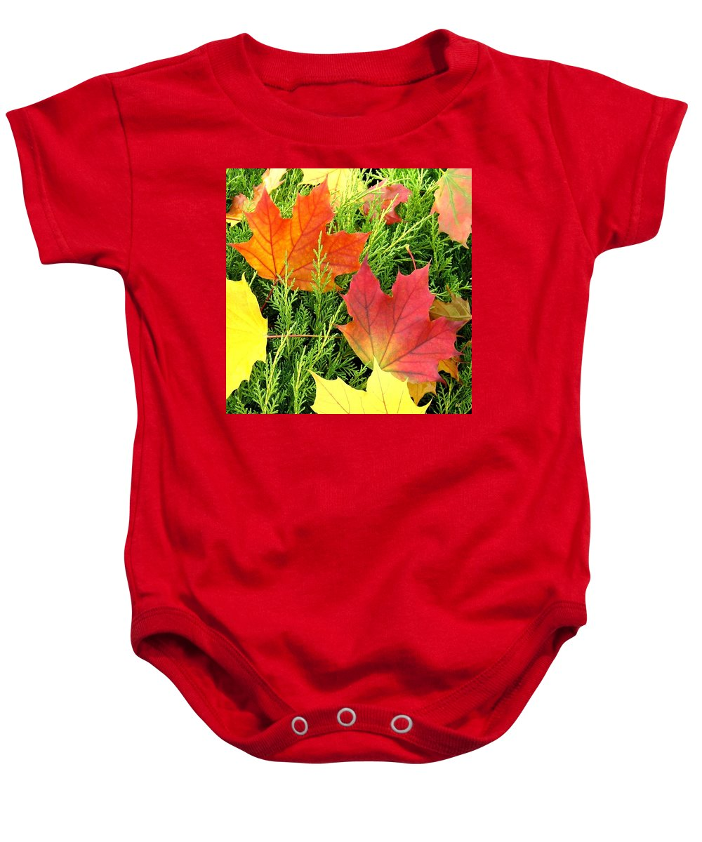 Autumn Baby Onesie featuring the photograph Maple Mania 5 by Will Borden