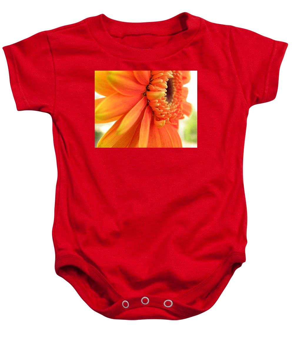Nature Baby Onesie featuring the photograph Gerbera Daisy by Shannon Turek