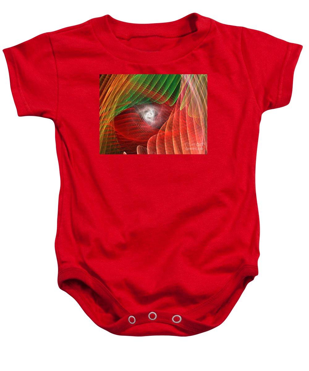 Apophysis Baby Onesie featuring the digital art Matrix by Kim Sy Ok