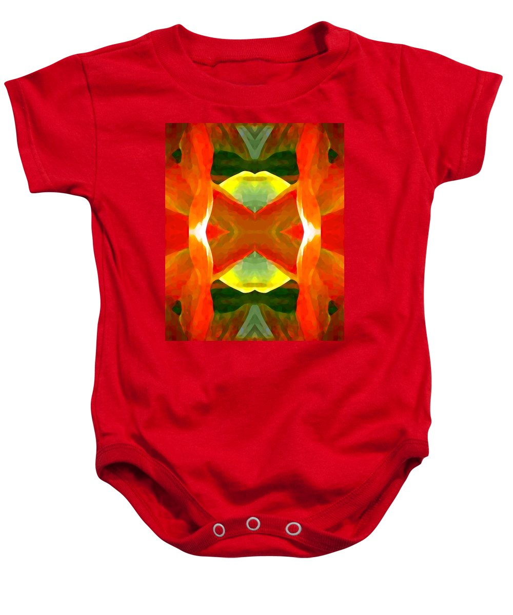 Abstract Baby Onesie featuring the painting Meditation by Amy Vangsgard