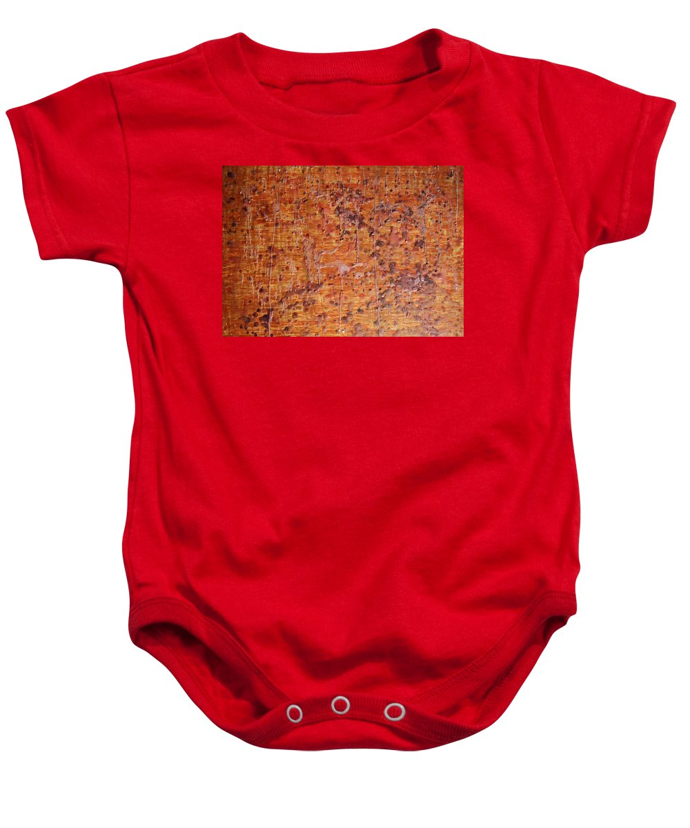 Wood Baby Onesie featuring the painting Melting by Ken Figurski