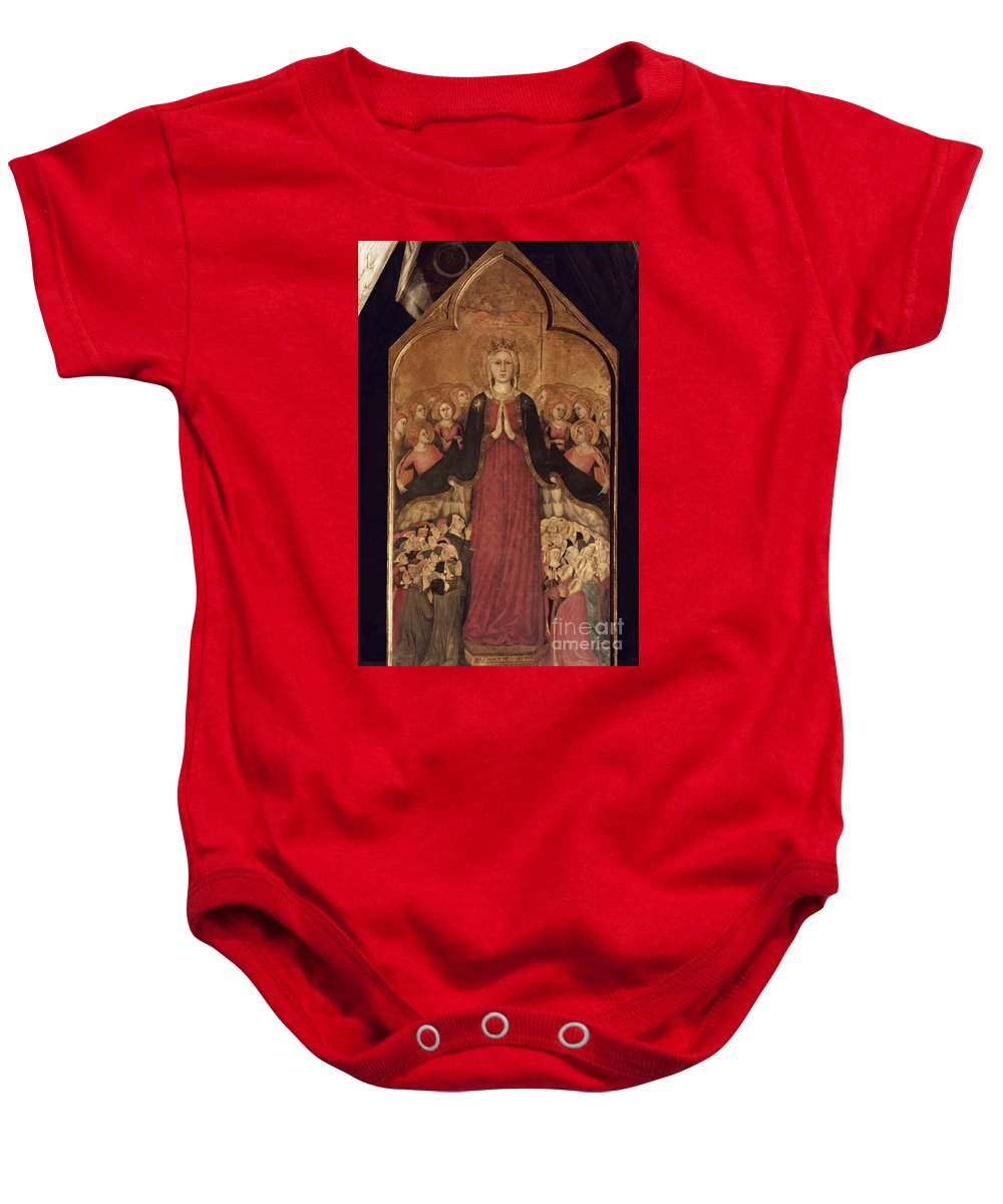 14th Century Baby Onesie featuring the photograph Memmi: Madonna In Heaven by Granger