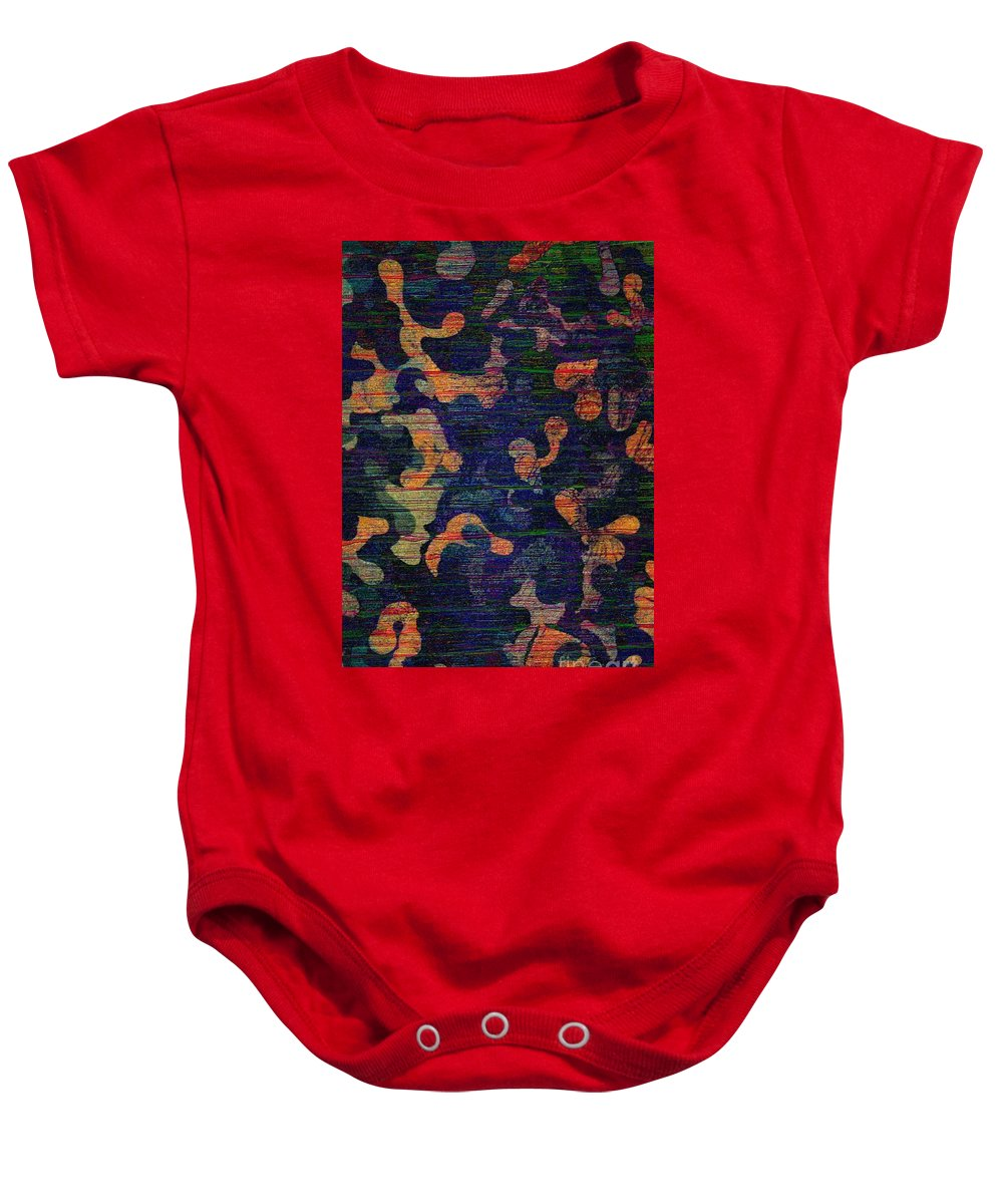 Abstract Acrylic Painting Baby Onesie featuring the photograph Midnight Canopy by Trent Jackson