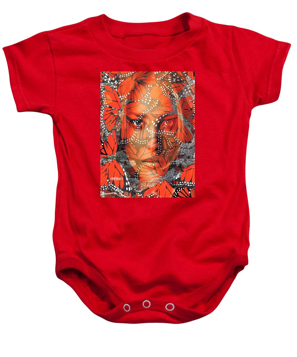 Butterfly Baby Onesie featuring the digital art Monarch Moment by Seth Weaver
