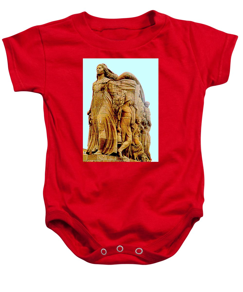 Pierre-marie Poisson Baby Onesie featuring the photograph Monument Aux Morts 9 by Randall Weidner