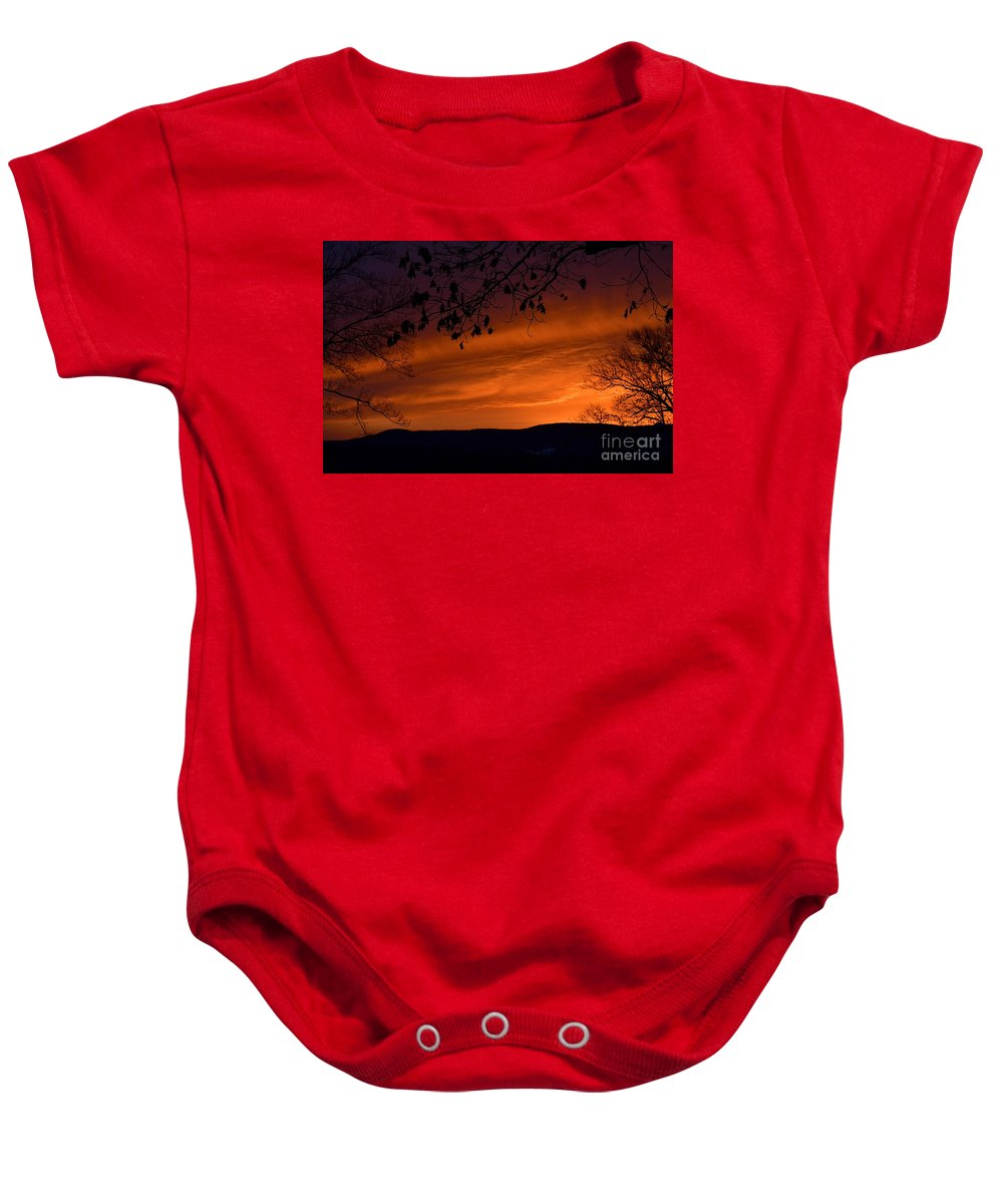 Morning Baby Onesie featuring the photograph Morning's Glory by Julie Street