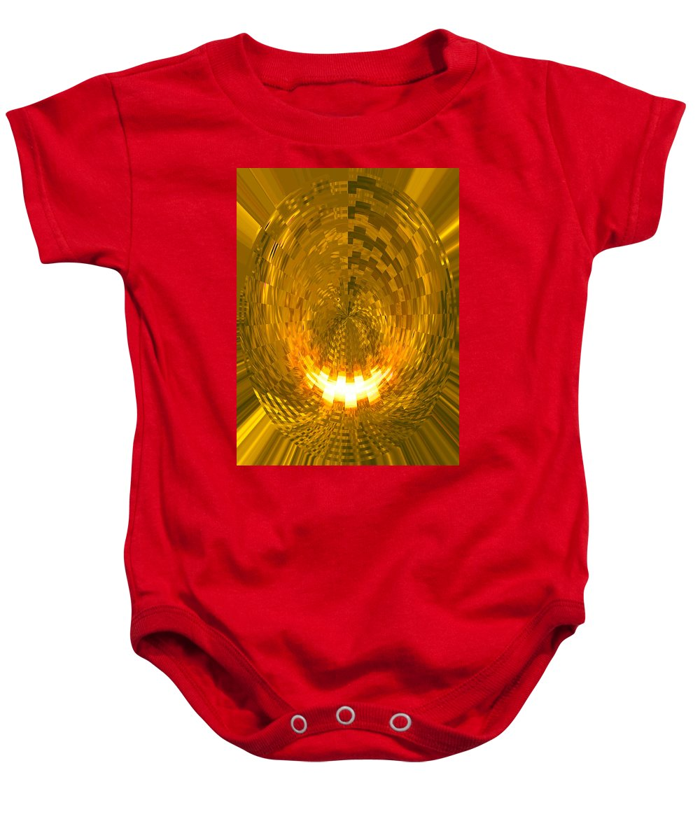 Moveonart! Digital Gallery Lower Nob Hill San Francisco California Jacob Kanduch Baby Onesie featuring the digital art Moveonart Abstract Retro Light Action 1 by Jacob Kanduch