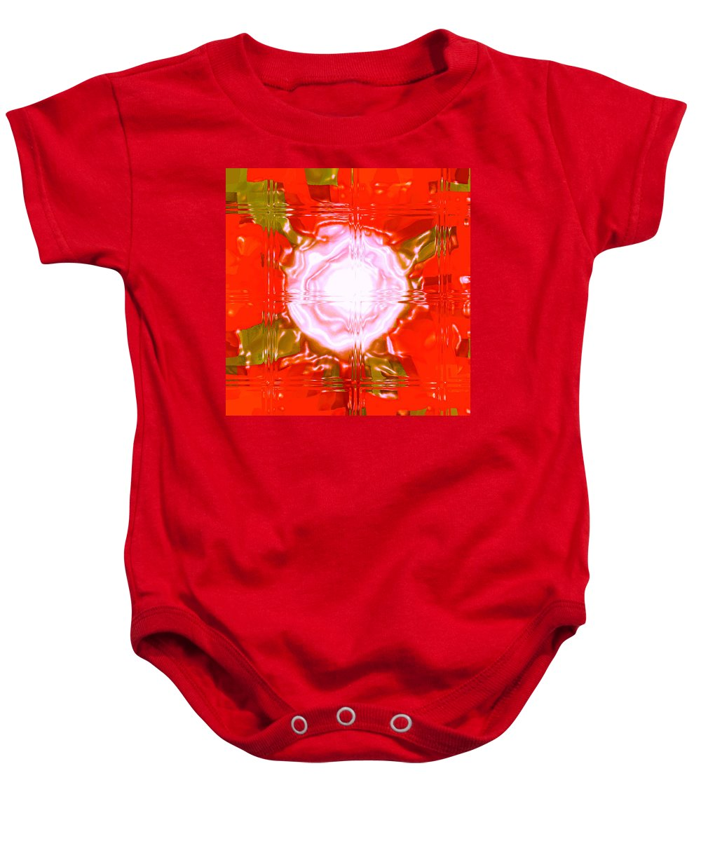 Moveonart! Digital Gallery Baby Onesie featuring the digital art Moveonart Light Saturation With Red by Jacob Kanduch
