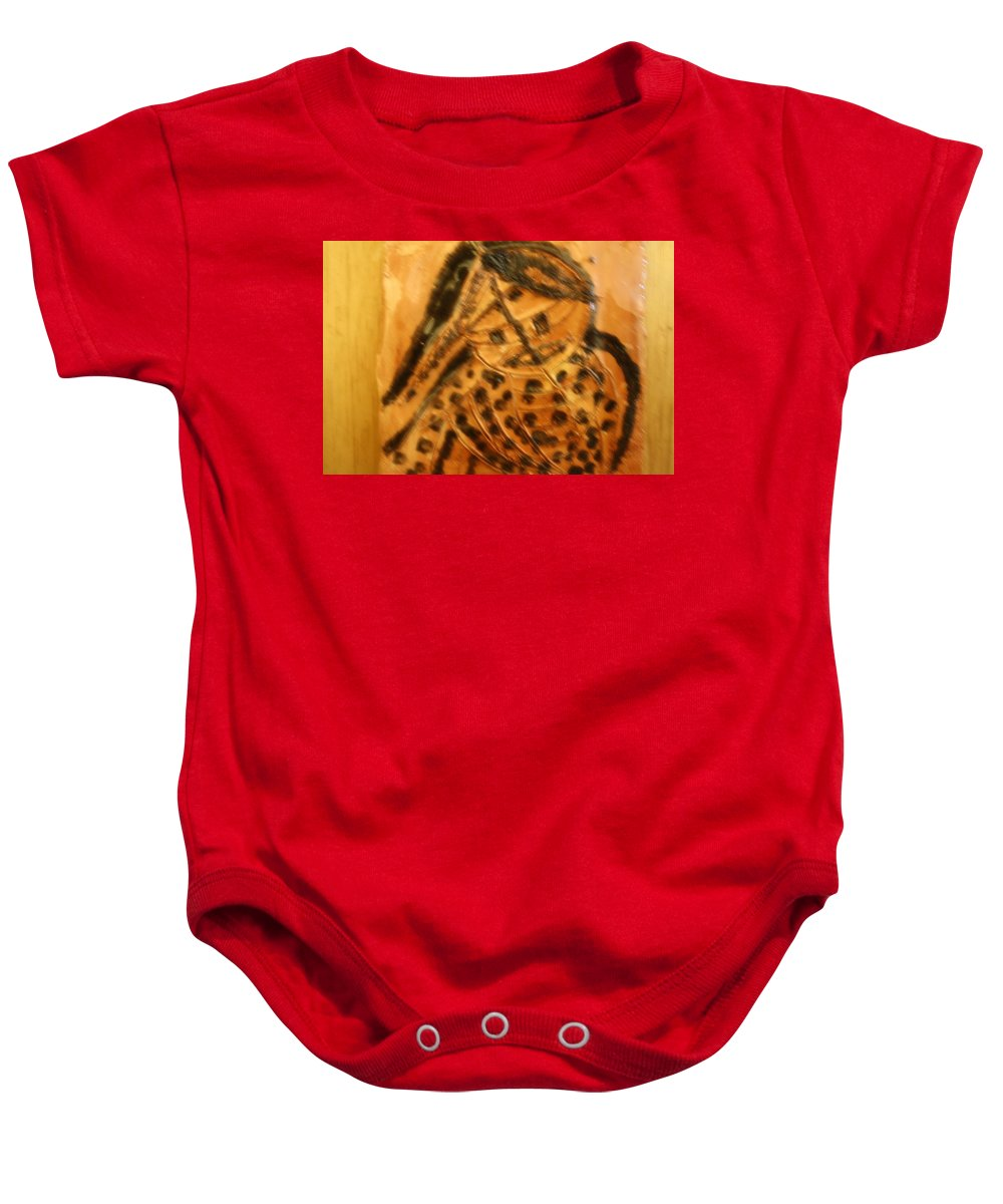 Jesus Baby Onesie featuring the ceramic art Muse - Tile by Gloria Ssali