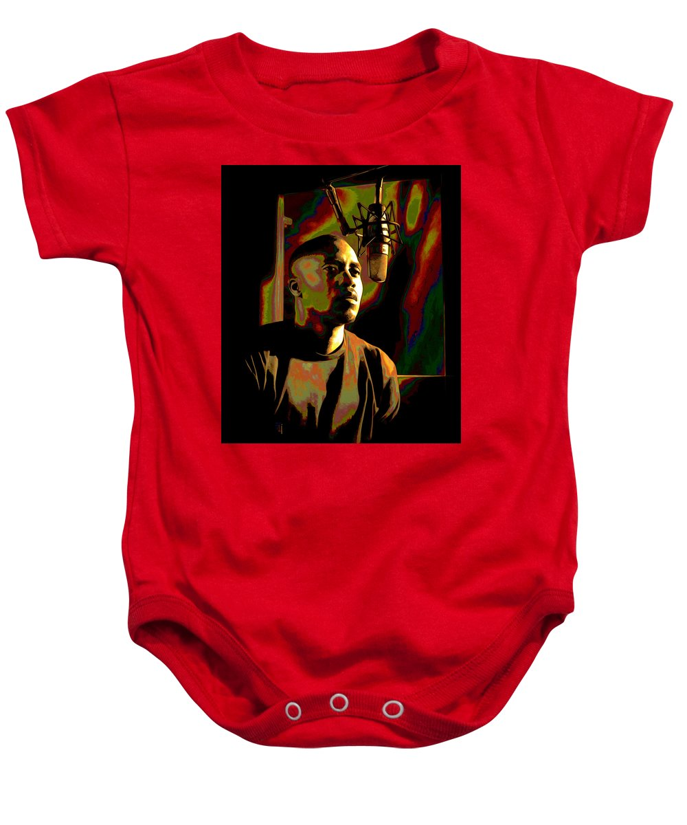 Nas Baby Onesie featuring the painting Nas by Fli Art