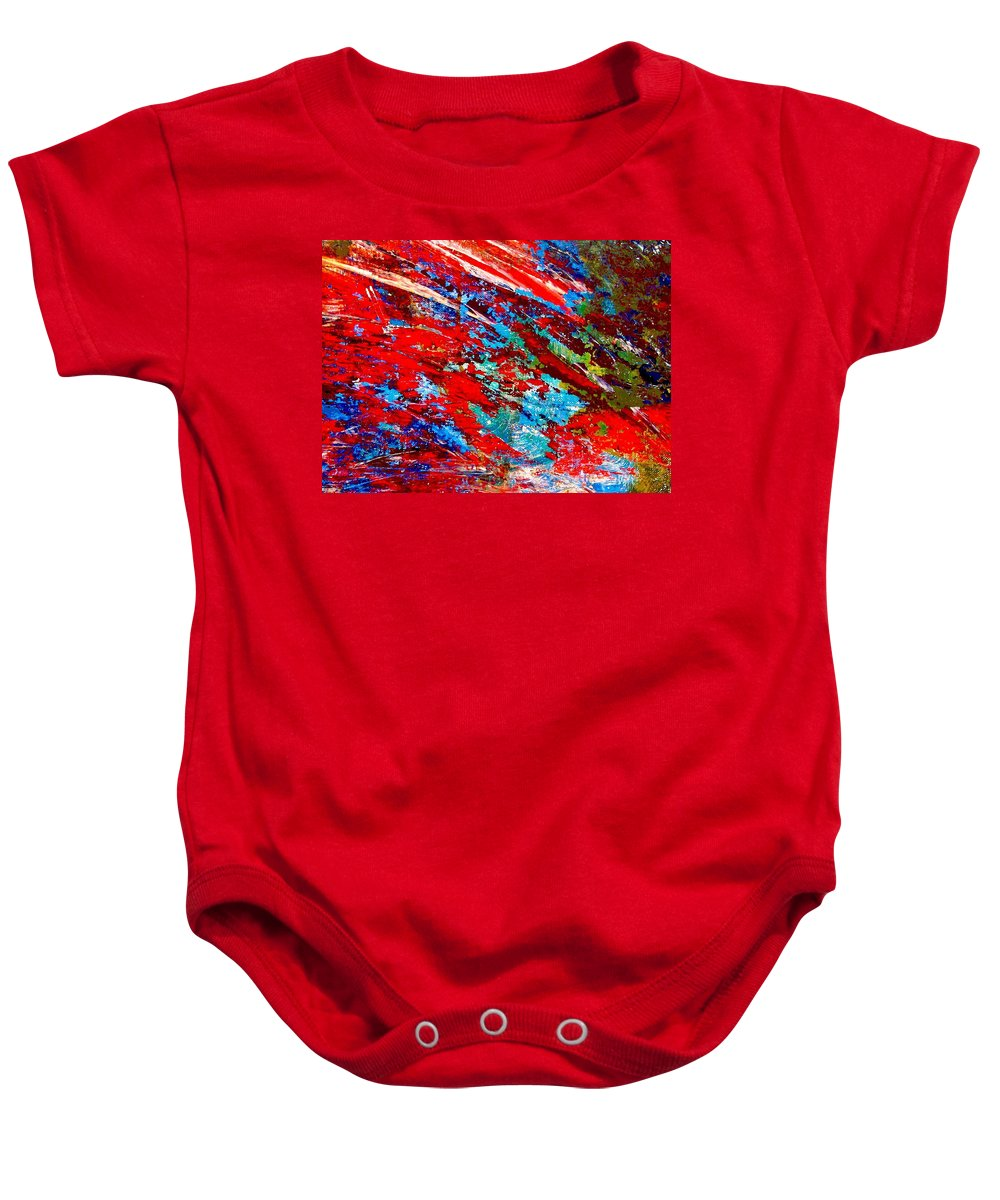 Abstract Baby Onesie featuring the painting Nature Harmony by Natalie Holland