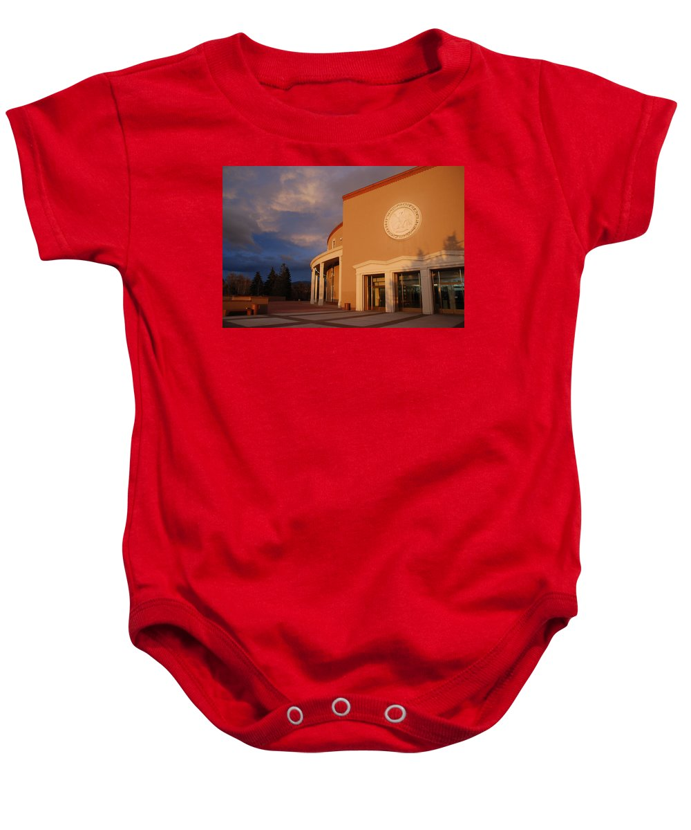 Architecture Baby Onesie featuring the photograph New Mexico State Capital Building by Rob Hans