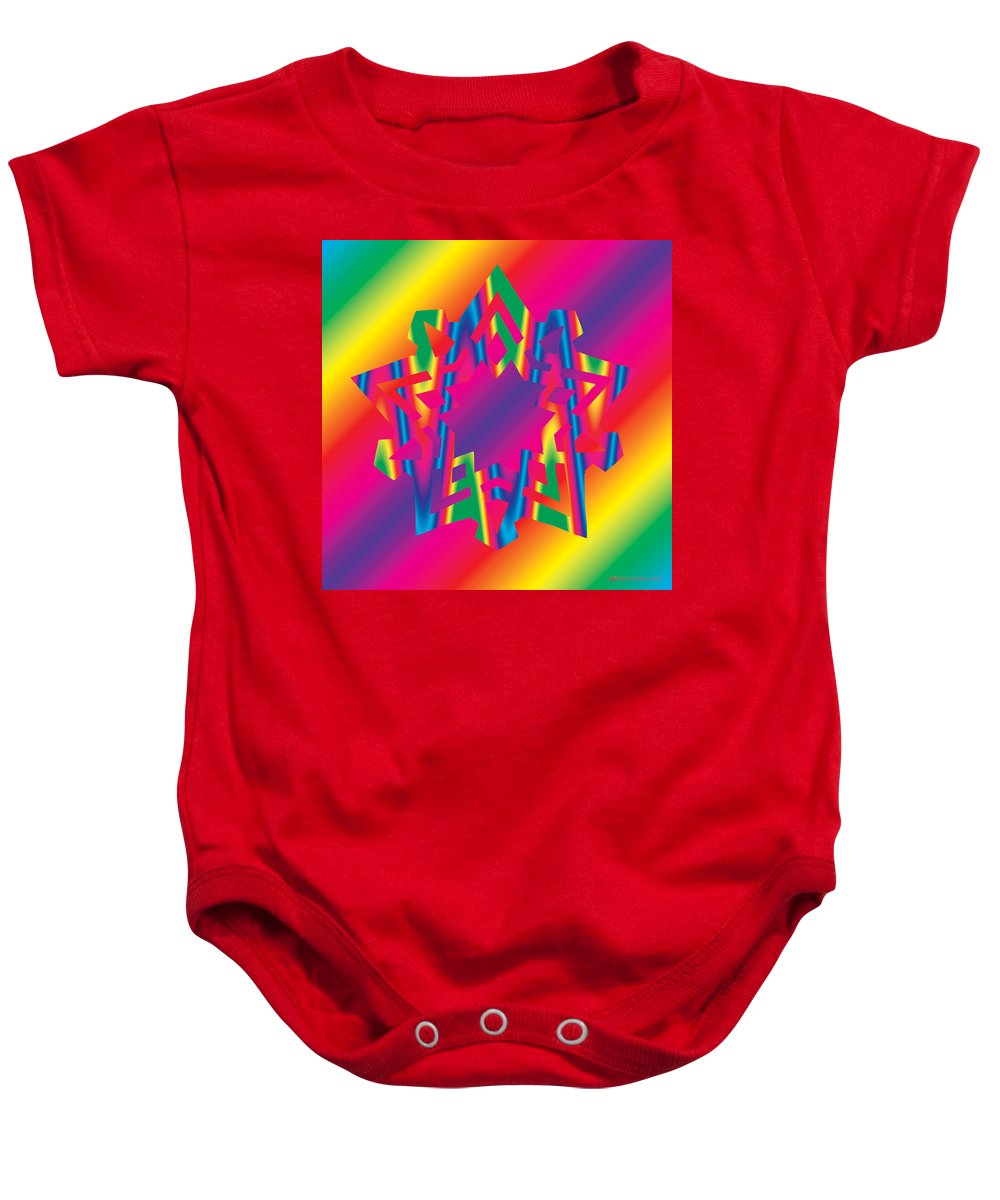Pentacle Baby Onesie featuring the digital art New Star 5c by Eric Edelman