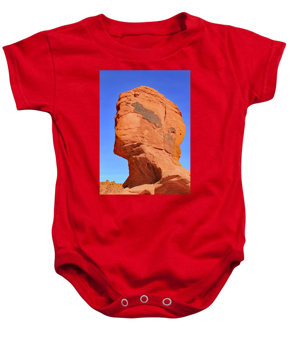 Baby Onesie featuring the photograph No Face by Kevin Mcenerney
