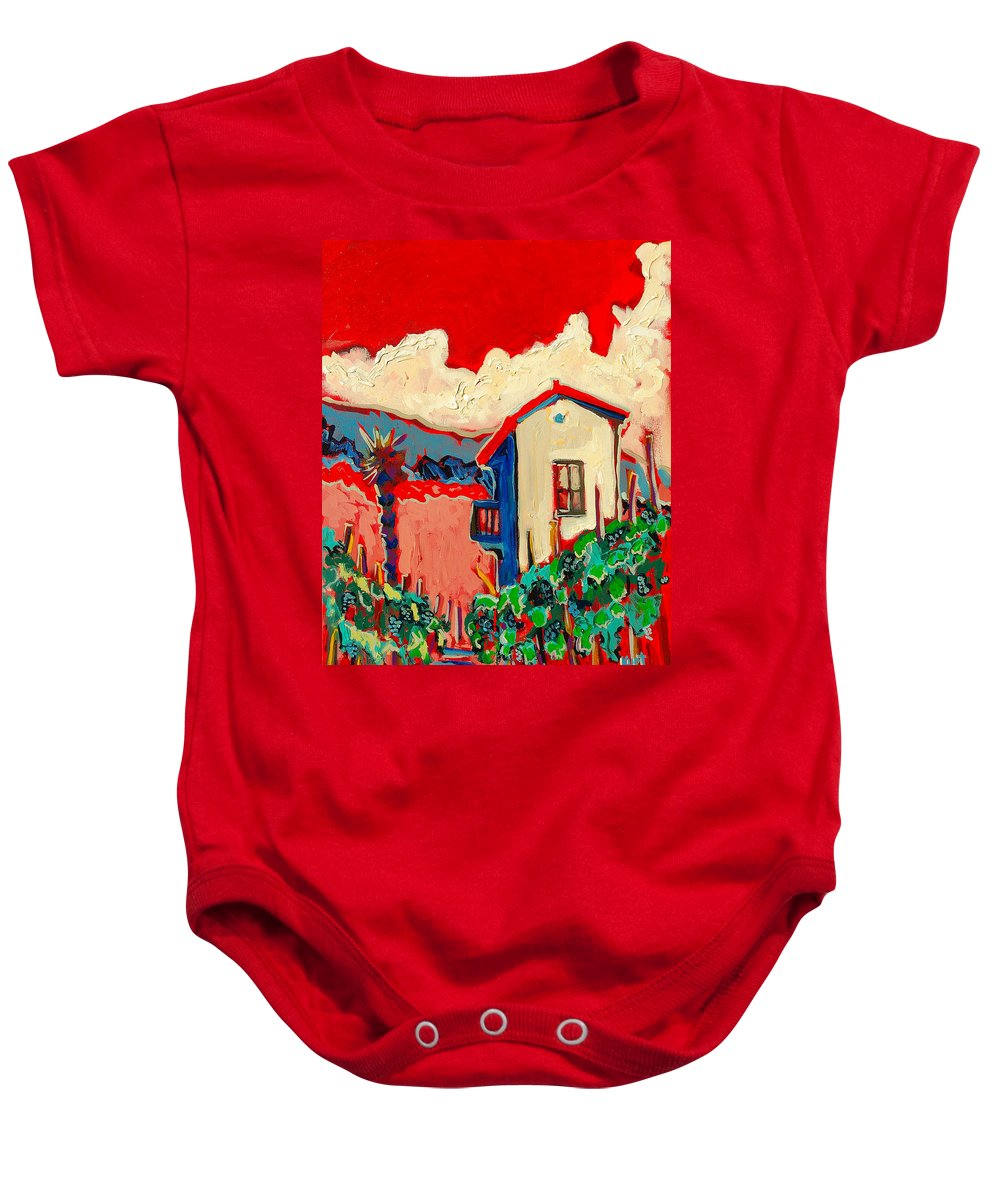 Tuscany Baby Onesie featuring the painting Notare by Kurt Hausmann