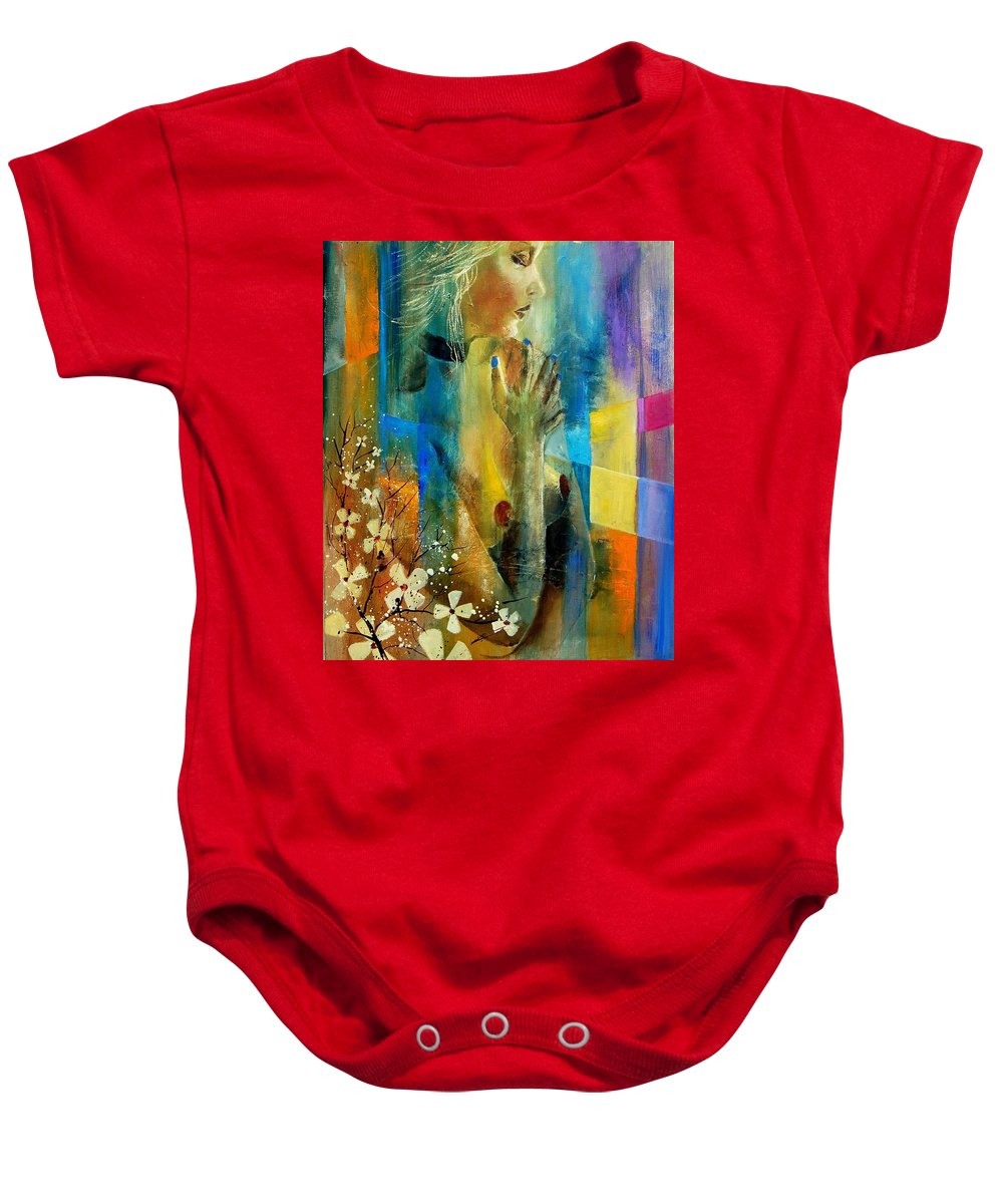 Nude Baby Onesie featuring the painting Nude 5609082 by Pol Ledent