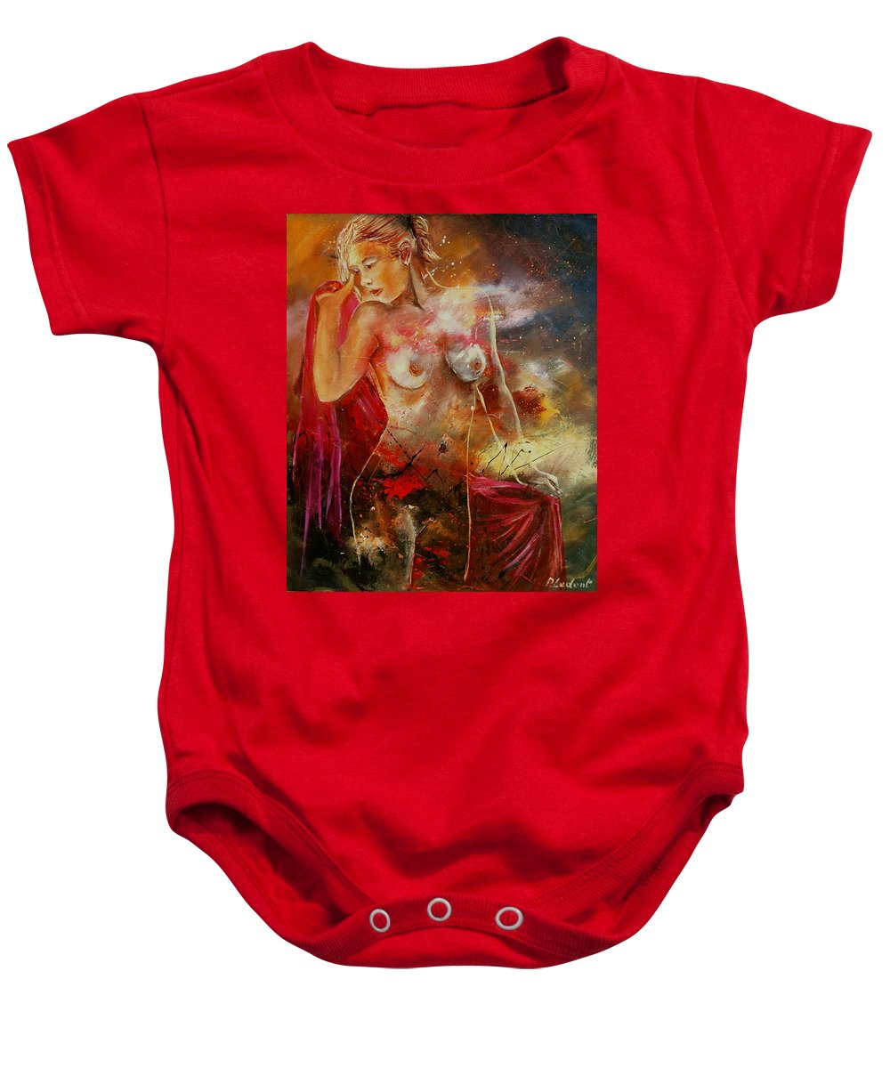 Nude Baby Onesie featuring the painting Nude 561008 by Pol Ledent