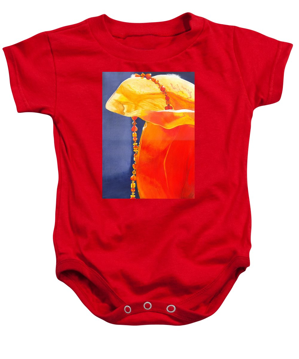 Beads Baby Onesie featuring the painting Orange by Catherine G McElroy