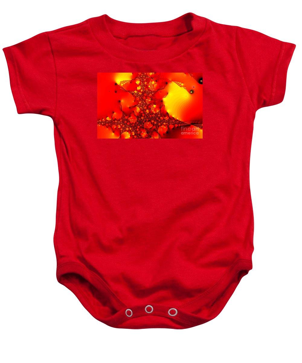 Clay Baby Onesie featuring the digital art Orange Peel by Clayton Bruster