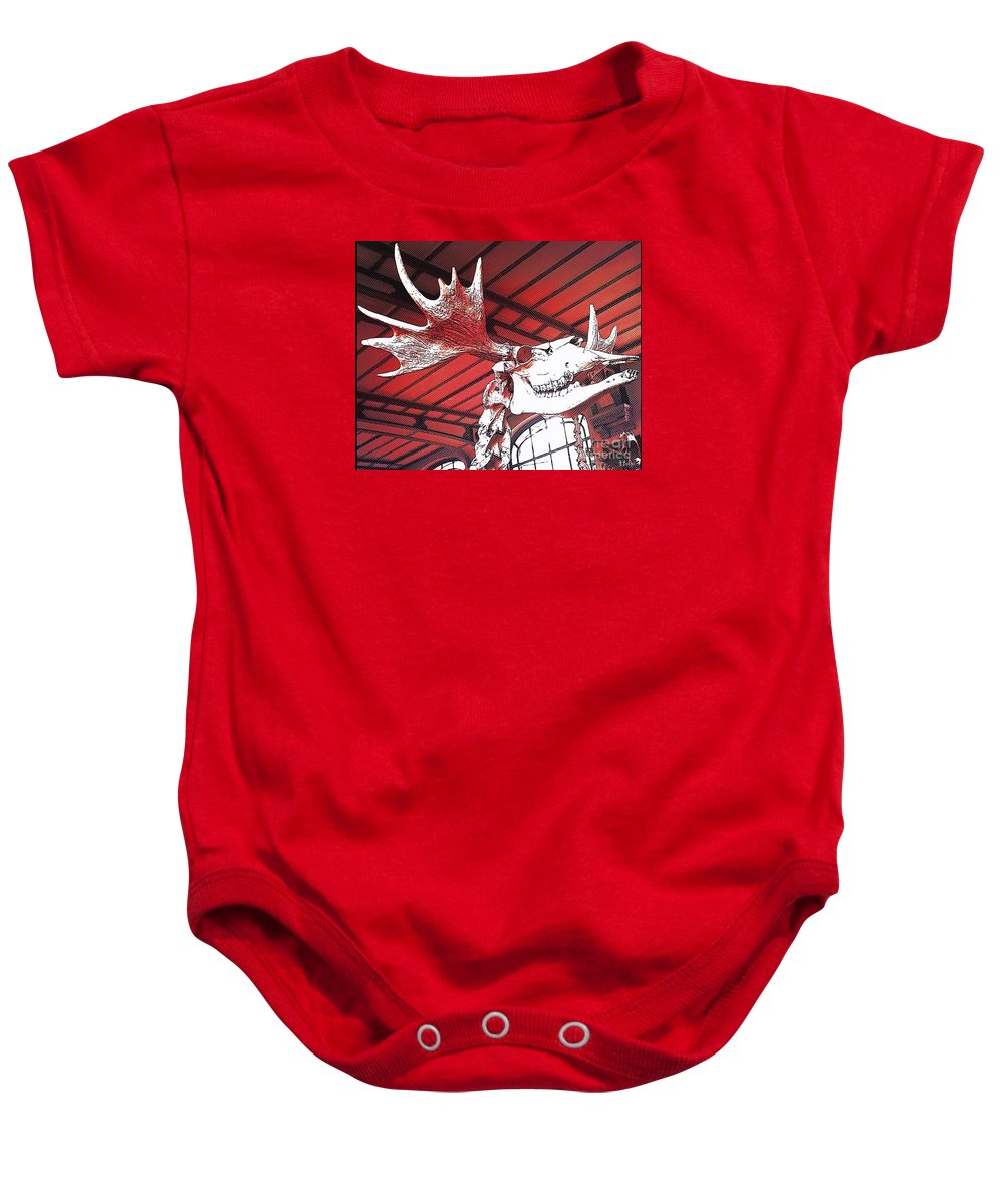 Paleo Baby Onesie featuring the photograph Paleo Wood by Helge