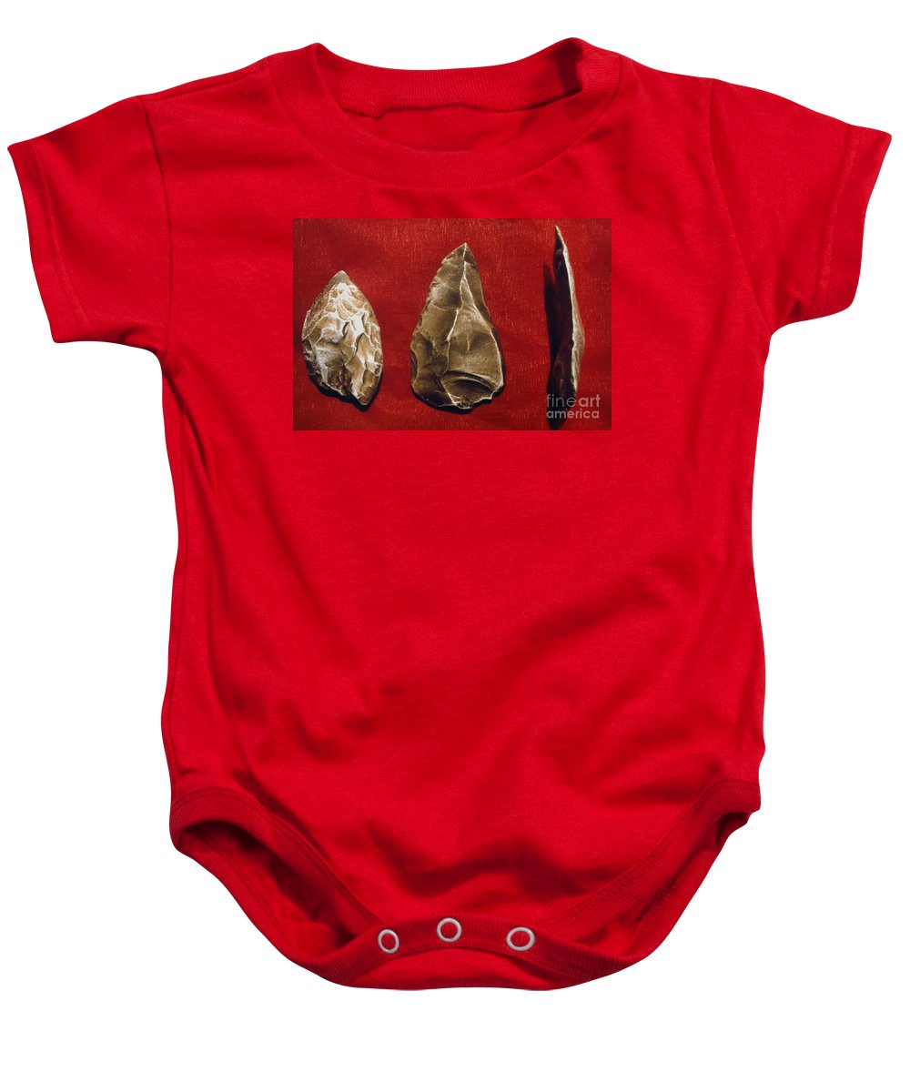 Ancient Baby Onesie featuring the photograph Paleolithic Tools by Granger