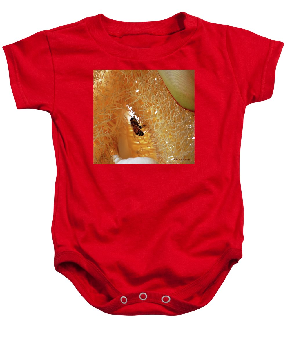 Palm Baby Onesie featuring the digital art Palm Pollination by DigiArt Diaries by Vicky B Fuller
