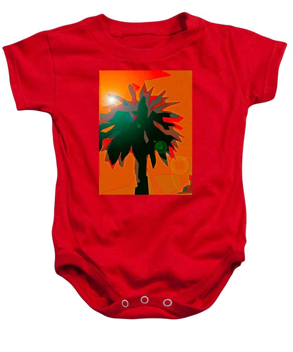 Tree Baby Onesie featuring the photograph Palms 5 by Pamela Cooper