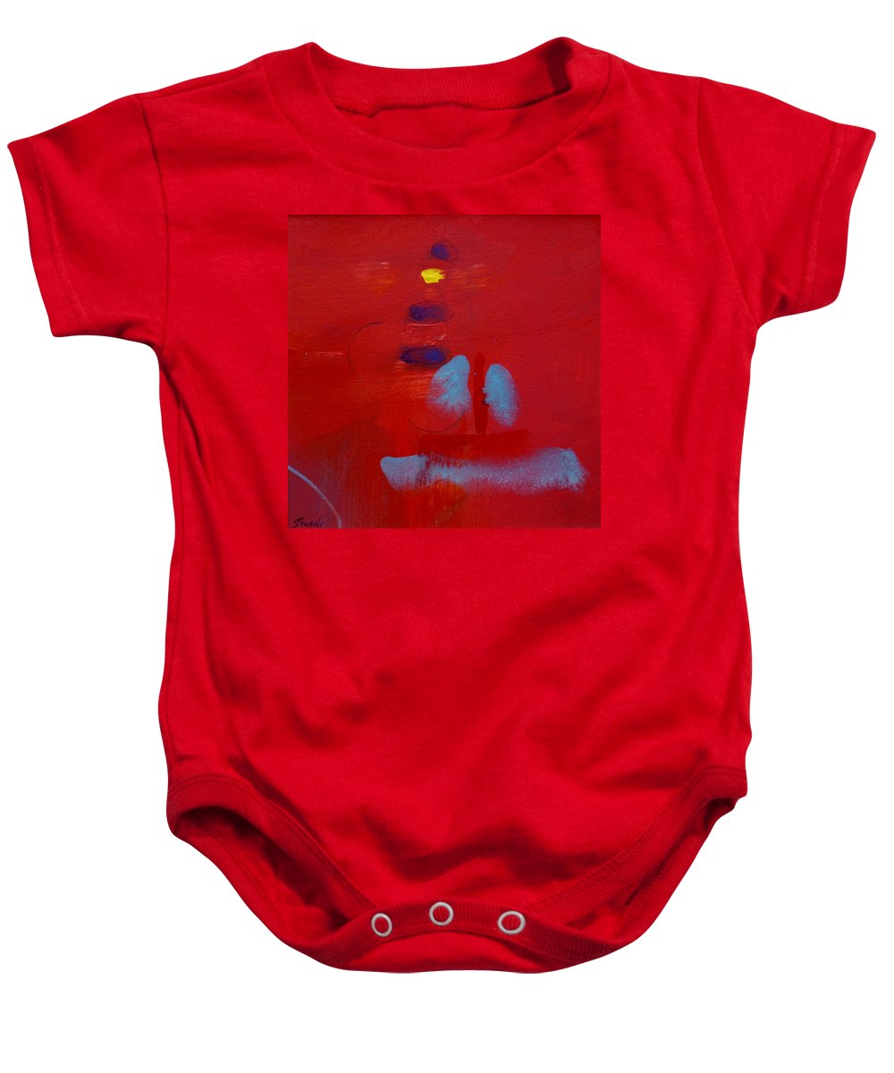 Lighthouse Baby Onesie featuring the painting Passing The Lighthouse by Charles Stuart