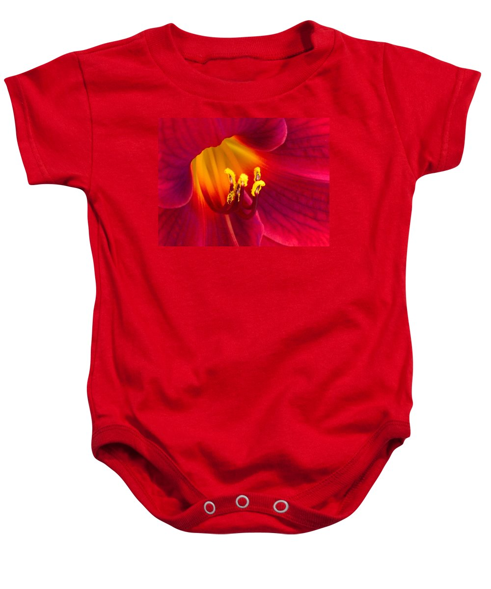 Floral Baby Onesie featuring the photograph Passion by Marla McFall