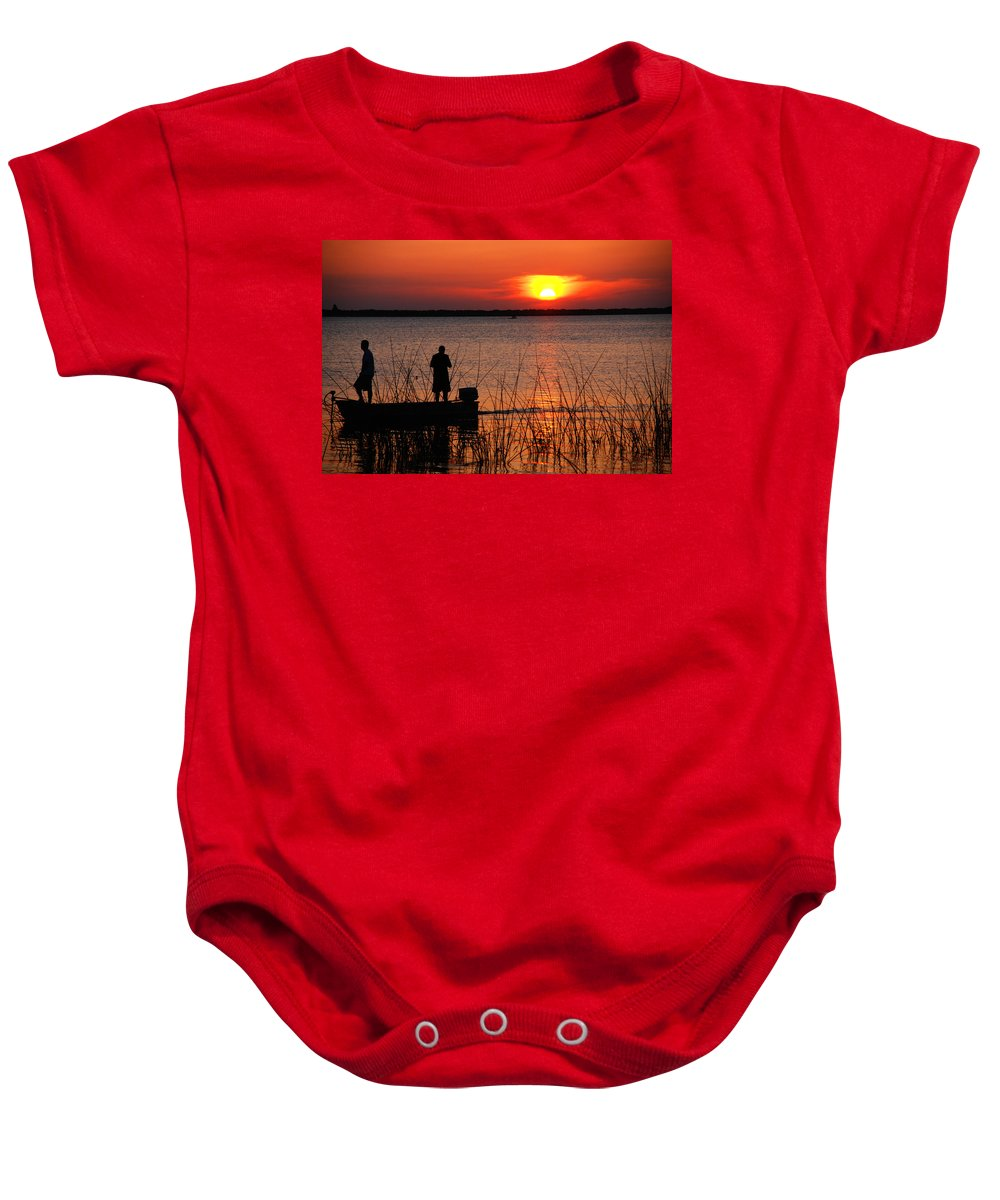 Landscape Baby Onesie featuring the photograph Peace over the water by Susanne Van Hulst