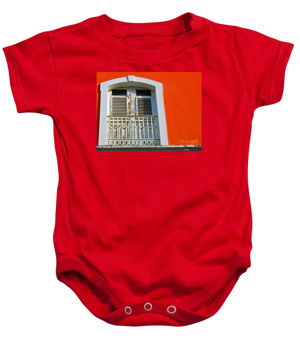 Shutters Baby Onesie featuring the photograph Peel An Orange by Debbi Granruth