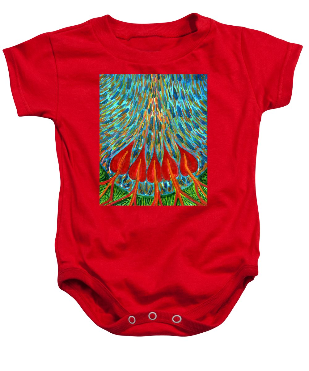 Colour Baby Onesie featuring the painting Penetration by Wojtek Kowalski