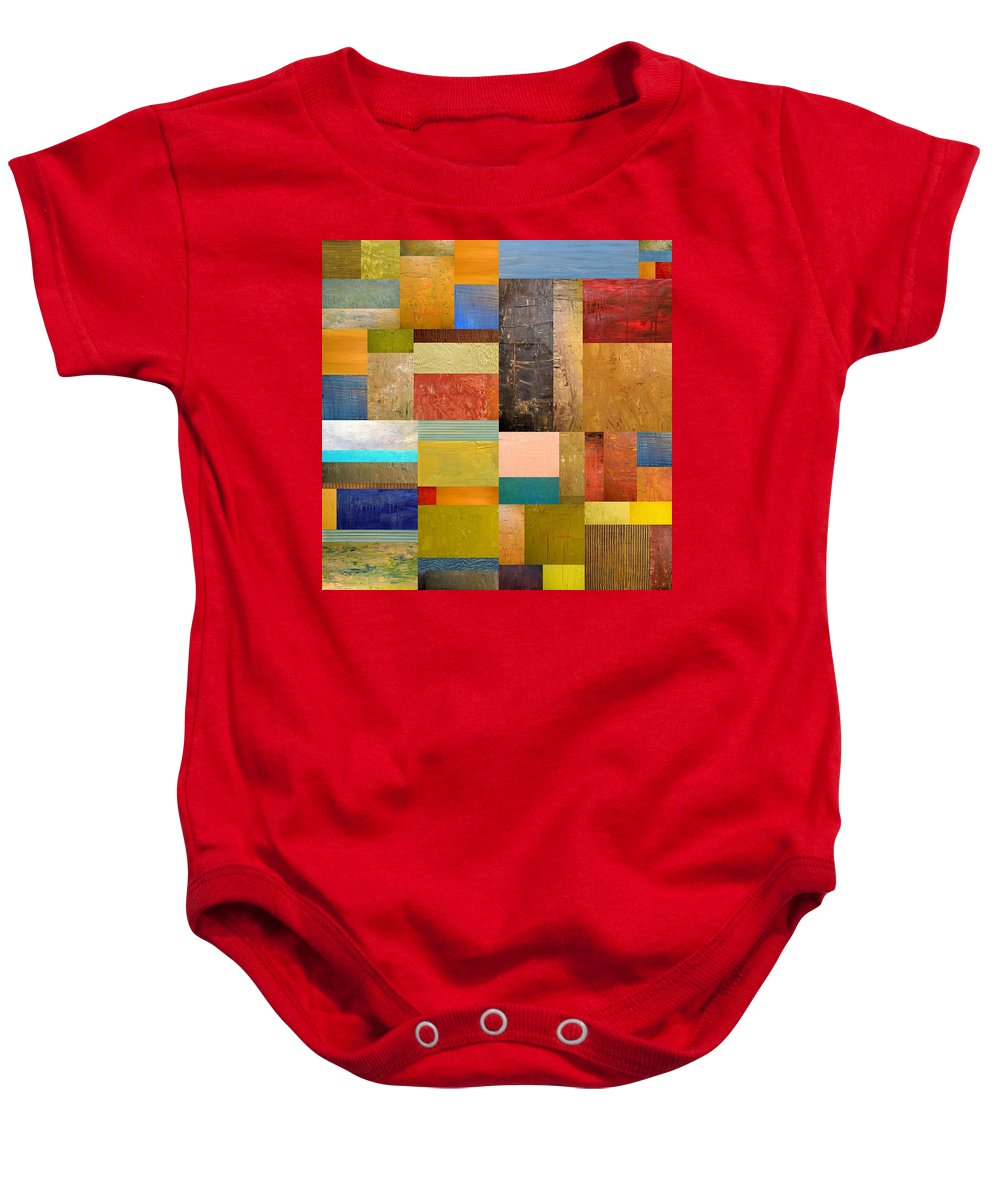 Textural Baby Onesie featuring the painting Pieces Project Lll by Michelle Calkins