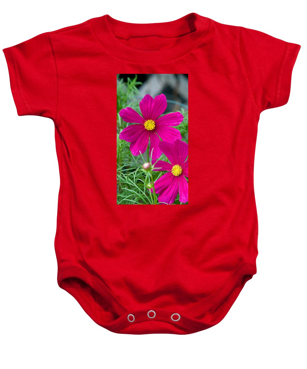 Pink Baby Onesie featuring the photograph Pink Flower by Michael Bessler