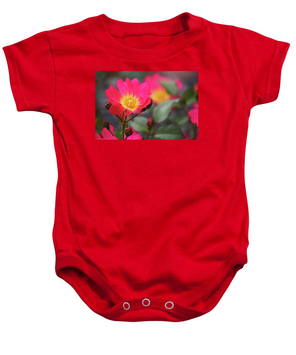 Pink Baby Onesie featuring the photograph Pink Paradise by Paul Sturdivant