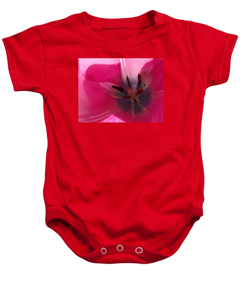 Pink Baby Onesie featuring the photograph Pink Tulip by Erin Rednour