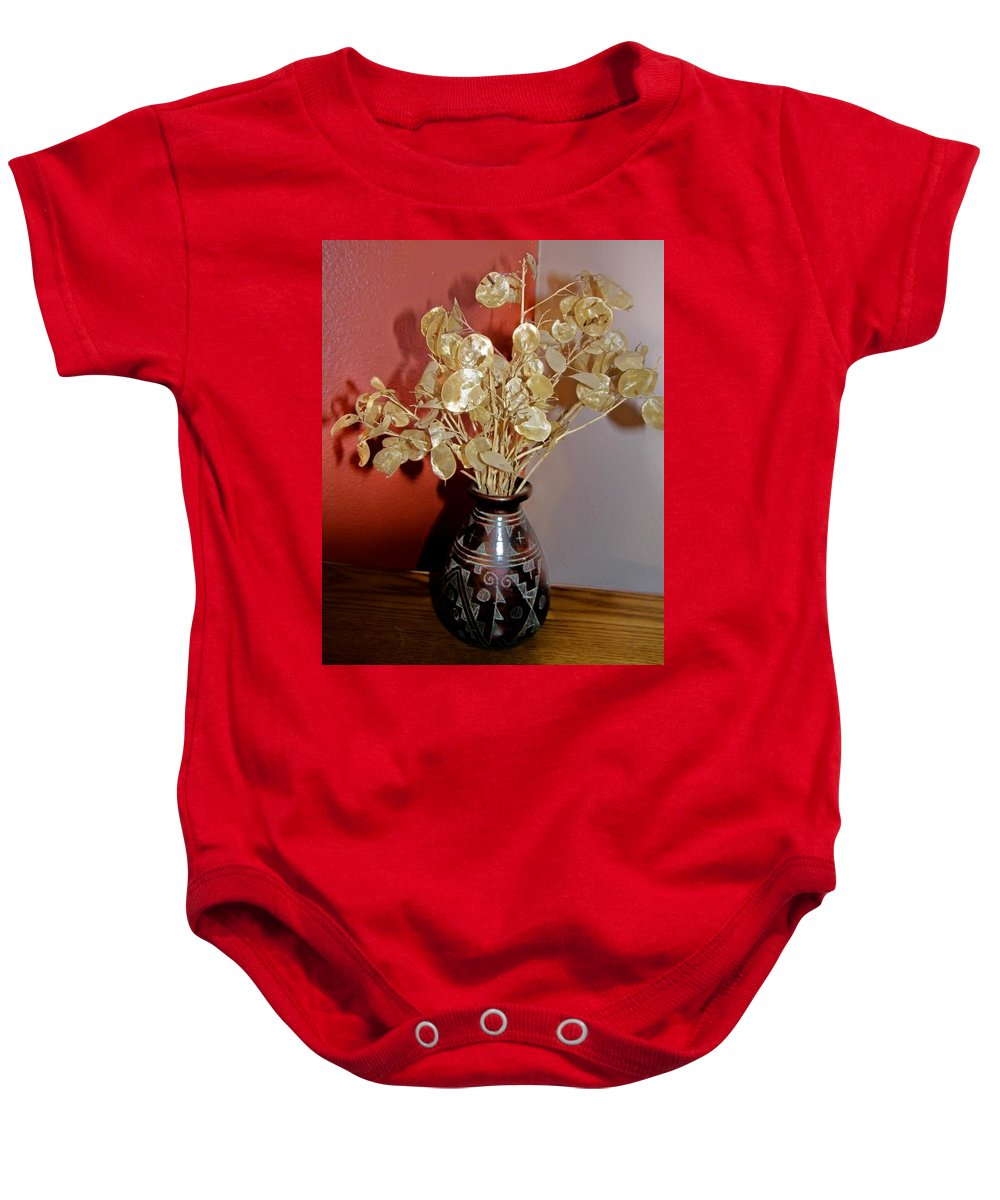 Plant Life Baby Onesie featuring the photograph Plant Life In Vase by Lenore Senior
