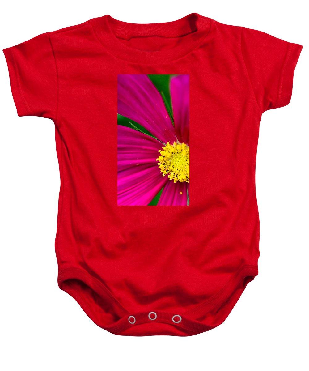 Plink Baby Onesie featuring the photograph Plink Flower Closeup by Michael Bessler