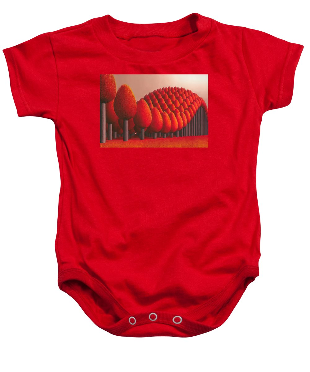 Tree Baby Onesie featuring the painting Populus Flucta by Patricia Van Lubeck