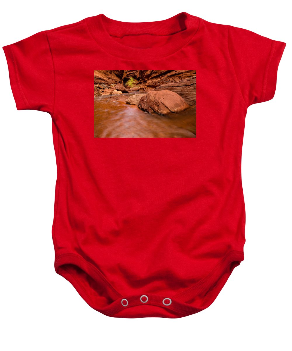 Trailsxposed Baby Onesie featuring the photograph Professor Creek Canyon 2 by Gina Herbert