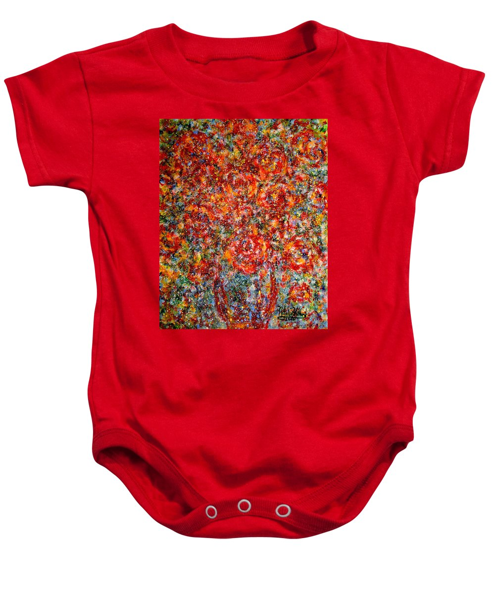 Flowers Baby Onesie featuring the painting Pure Happiness by Natalie Holland