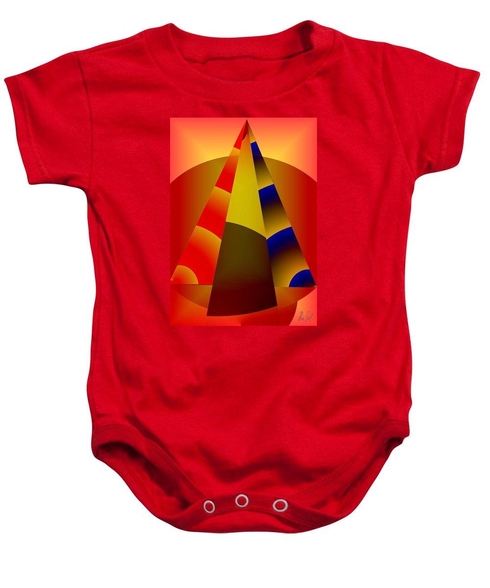 Pyramids Baby Onesie featuring the digital art Pyramids Pendulum by Helmut Rottler