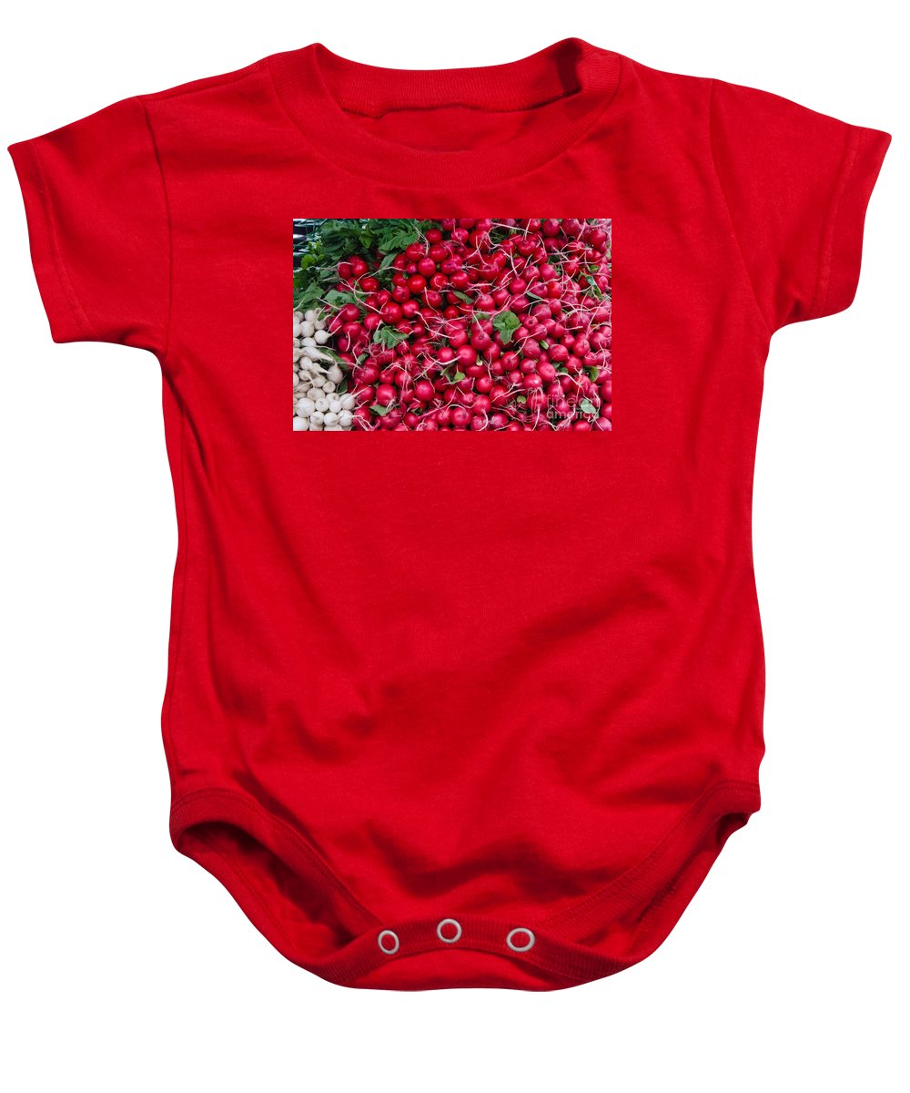 Radish Baby Onesie featuring the photograph Radishes by Thomas Marchessault