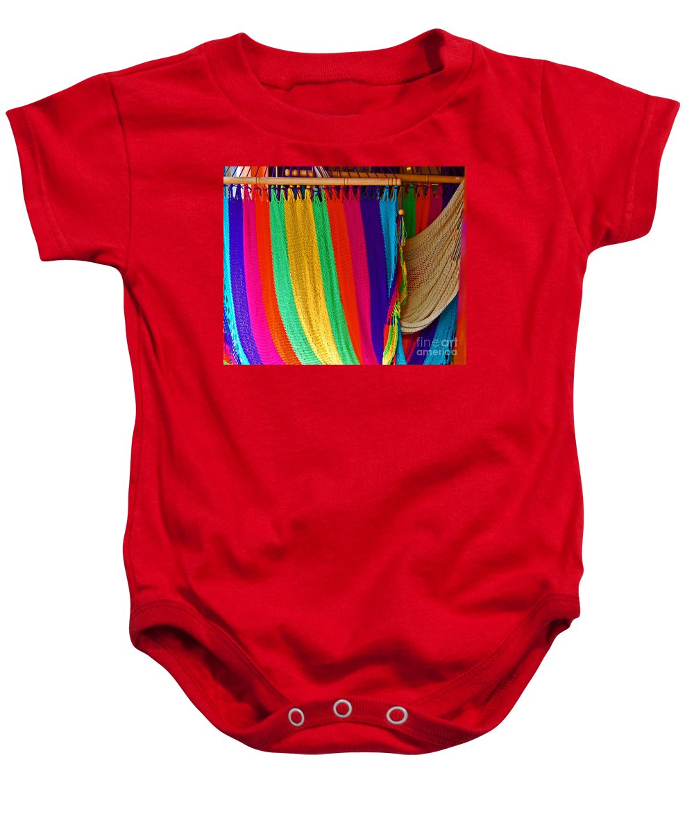 Hammock Baby Onesie featuring the photograph Rags To Riches by Debbi Granruth